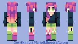 pink lime Minecraft Skin