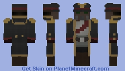 Warhammer 40k, The Commissar of Krieg Minecraft Skin