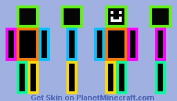 BaconBall37's Neon Man with a Smile Minecraft Skin