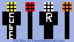 Rubix cube man Minecraft Skin