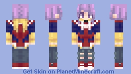 Purple hair and her favorite hoodie Minecraft Skin