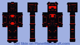 Redstone: Obsidian Power Armor Minecraft Skin