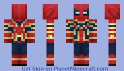Iron Spiderman Minecraft Skin