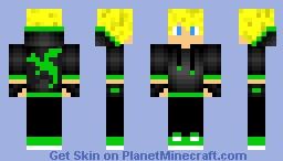 Green Dragon Boy Minecraft Skin