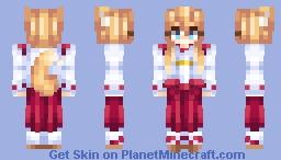 Fox Girl Minecraft Skin