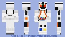 Kamen Rider Fourze Minecraft Skin