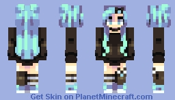 lightning blue Minecraft Skin