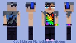 Rainbow person Minecraft Skin