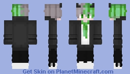 Black Cat Green Minecraft Skin