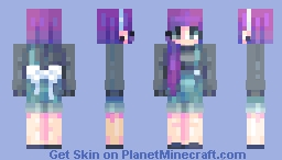 ? when you make hair but cant add an outfit ? Minecraft Skin