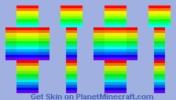Rainbow Skin 64x64 Minecraft Skin