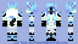 Furry Wolf Girl Minecraft Skin