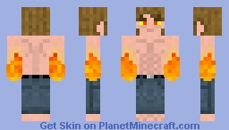 Flame Hands Guy Minecraft Skin