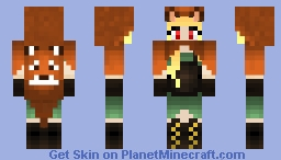 Fox Coat Skin Layer Minecraft Skin