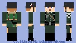 German WW2 Soldier (woodland) Minecraft Skin