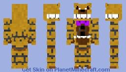 Nightmare Fredbear Minecraft Skin