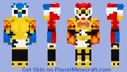 Kamen Rider Para-DX Fighter Gamer Lv50 Minecraft Skin