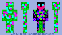 Colorful Demon Minecraft Skin