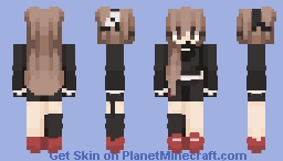 Red and Black though Minecraft Skin