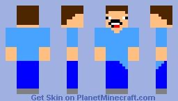 Mad Steve (new version) Minecraft Skin