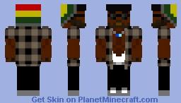 Afro man (gangster dad) Minecraft Skin