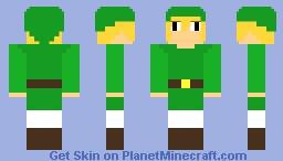 Lonk The Hero Of Thyme Minecraft Skin