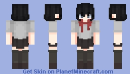 """""""H-Huh? This wasn't...supposed to... Why...me...?"""" Minecraft Skin"""
