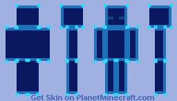 Wireframe Blue Minecraft Skin