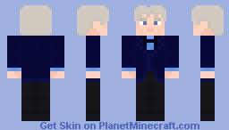 The Third Doctor-Blue Velvet Coat Minecraft Skin