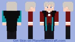 The Third Doctor-Red Velvet Coat Minecraft Skin