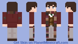 """The Fourth Doctor-in """"Terror of The Zygons"""" Minecraft Skin"""