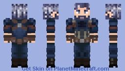 Capitan America Ultra Instinto Minecraft Skin