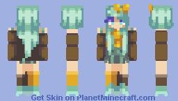Average Gal Minecraft Skin