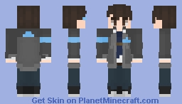 Connor From Detroit Become Human Minecraft Skin