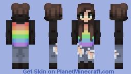 Pride - Female [Read Description] Minecraft Skin