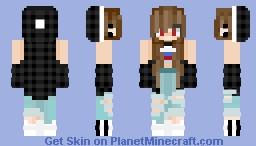 My friend as a woman lmao Minecraft Skin