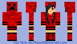 Creeper Hoodie Girl Minecraft Skin