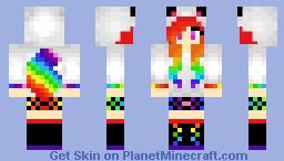 Rainbow Bear (white) Minecraft