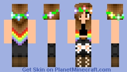 -~Rainbow Girl~- Minecraft Skin