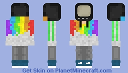 Tv Head (With rainbow hoodie) Minecraft Skin