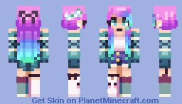 Downhill ~ Catligraphy // CE Minecraft Skin