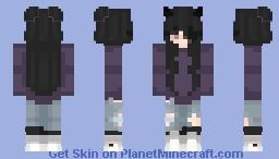 "Hailee | OC | ""Purple? I still prefer black."" Minecraft Skin"