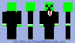 Creeper in a suit Minecraft Skin