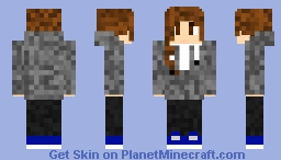 Genderfluid/Bigender Person (Removeable hat/armour) Minecraft Skin
