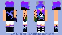 Rockstar Kitty girl Minecraft Skin