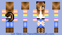 ~Cat Girl- Rainbow Shirt~ Minecraft Skin