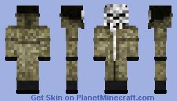 Punisher in a coat Minecraft Skin