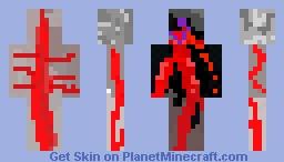 Bloody Halloween Vampire Minecraft Skin