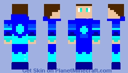 Diamond hoodie Minecraft Skin