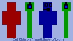 The three shades of Gamer Minecraft Skin